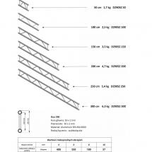 Kraty + tabela ovciążeń (Duo290 SZ)