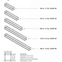 Kraty + tabela ovciążeń (Q250 R)